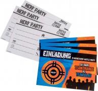 6 Einladungskarten Nerf