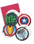 6 Einladungen Mighty Avengers