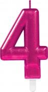 Zahlenkerze #4 - in Pink