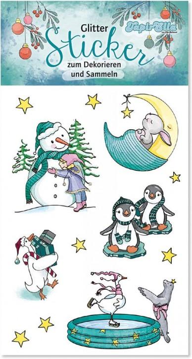 Weihnachten Glitter-Sticker