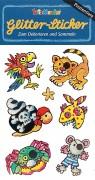 Piraten & Tiere Glitter-Sticker