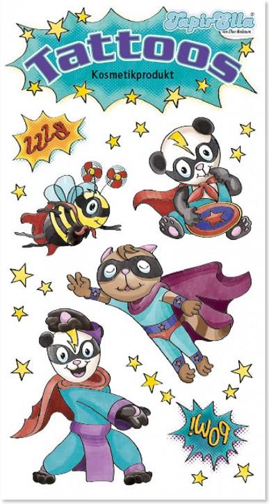 Tierische Superhelden Tattoos