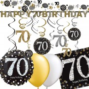 Deko-Set: 70. Geburtstag - Sparkling Celebration