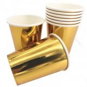 8 Becher Metallic-Gold