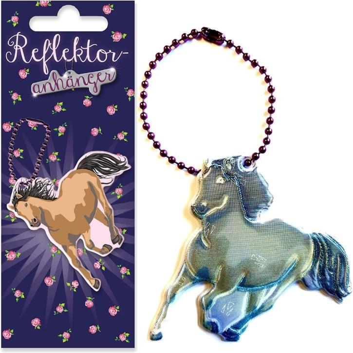 Reflektor-Anhänger Pferde