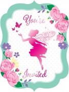 8 Einladungskarten Floral Fairy