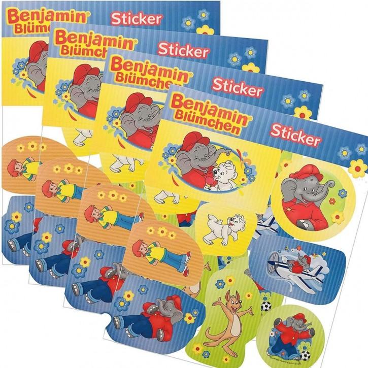 4 Sticker-Bögen Benjamin Blümchen