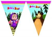 Wimpelkette Mascha und der Bär