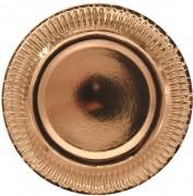 8 Teller Rosé-Gold