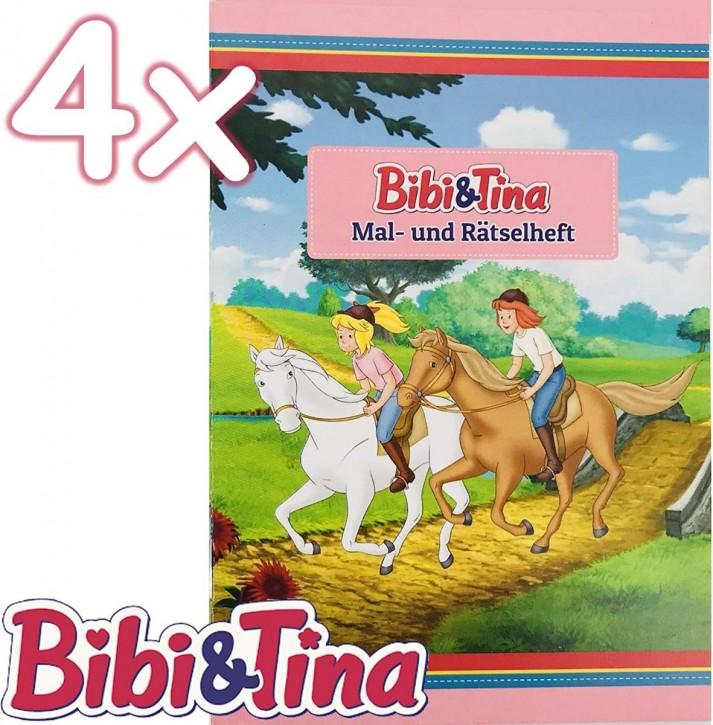 4 Mal- und Rätselhefte Bibi und Tina
