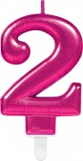Zahlenkerze #2 - in Pink