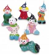 6 Geburtstagskerzen Clown