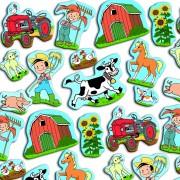 33-teiliges XXL-Konfetti Bauernhof