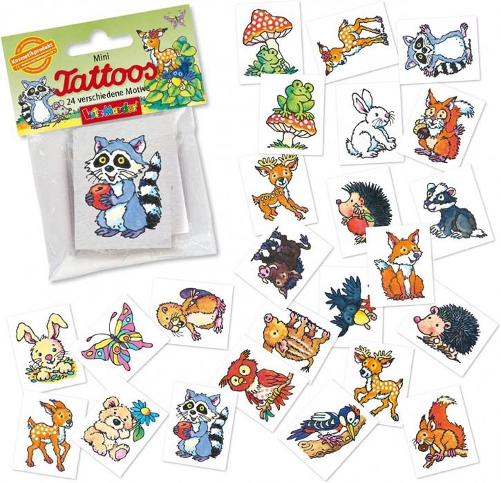 """Tattoo-Set """"Waldtiere"""" - 24 verschiedene Motive"""