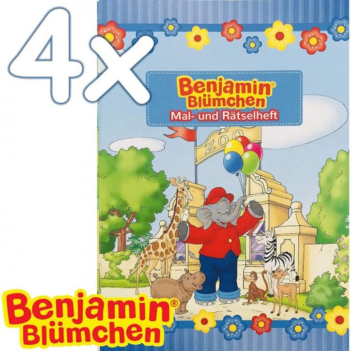 4 Mal- und Rätselhefte Benjamin Blümchen