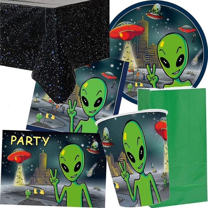 92-teiliges Party-Set: Alien