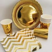 44-teiliges Spar-Set: Metallic-Gold