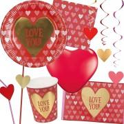 66-teiliges Party-Set: Love You