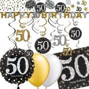 Deko-Set: 50. Geburtstag - Sparkling Celebration