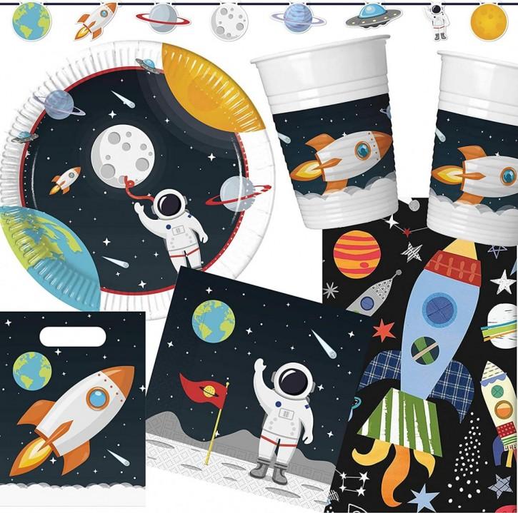 96-teiliges Set: Astronaut & Weltraum