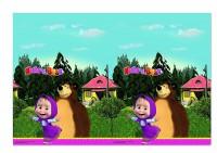 Tischdecke Mascha und der Bär