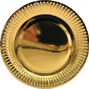 8 Teller Metallic-Gold