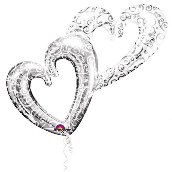 Multi-Balloon Herz - Interlocking Hearts (134x91 cm)