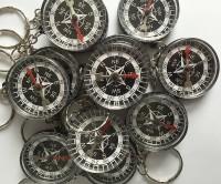 12 Schlüsselanhänger mit Kompass
