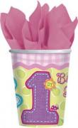 8 Becher 1. Birthday - Girl