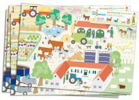 6 Platzsets Bauernhof