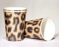 10 Becher Leopard