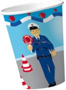 8 Becher Polizei