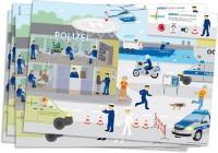 6 Platzsets Polizei