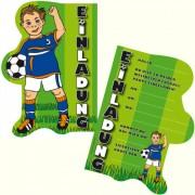 6 Einladungskarten Fußball