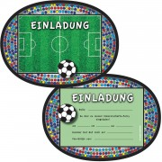 6 Einladungskarten Fussball-Stadion