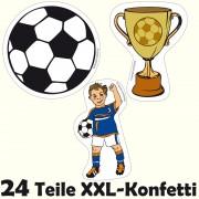 24-teiliges XXL Konfetti Fußball als Tischdeko