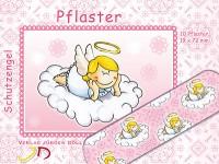 """10 Pflaster """"Schutzengel - Rosa/Mädchen"""" für Kinder"""