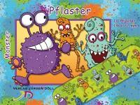 """10 Pflaster """"Monster"""" für Kinder"""