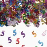 Konfetti für den 5. Geburtstag