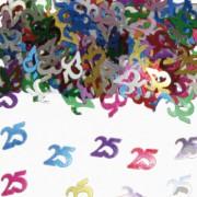 Konfetti für den 25. Geburtstag