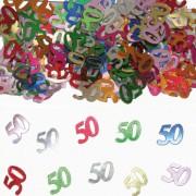 Konfetti für den 50. Geburtstag