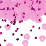 Konfetti Füße in Rosa