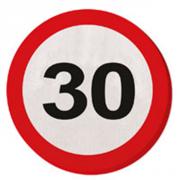 20 Servietten 30. Geburtstag