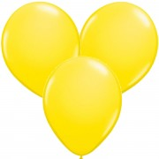 100 Luftballons in Gelb