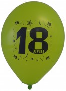 10 Luftballons Zahl 18