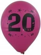 10 Luftballons Zahl 20