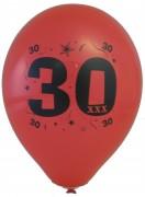 10 Luftballons Zahl 30