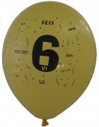 10 Luftballons Zahl 6