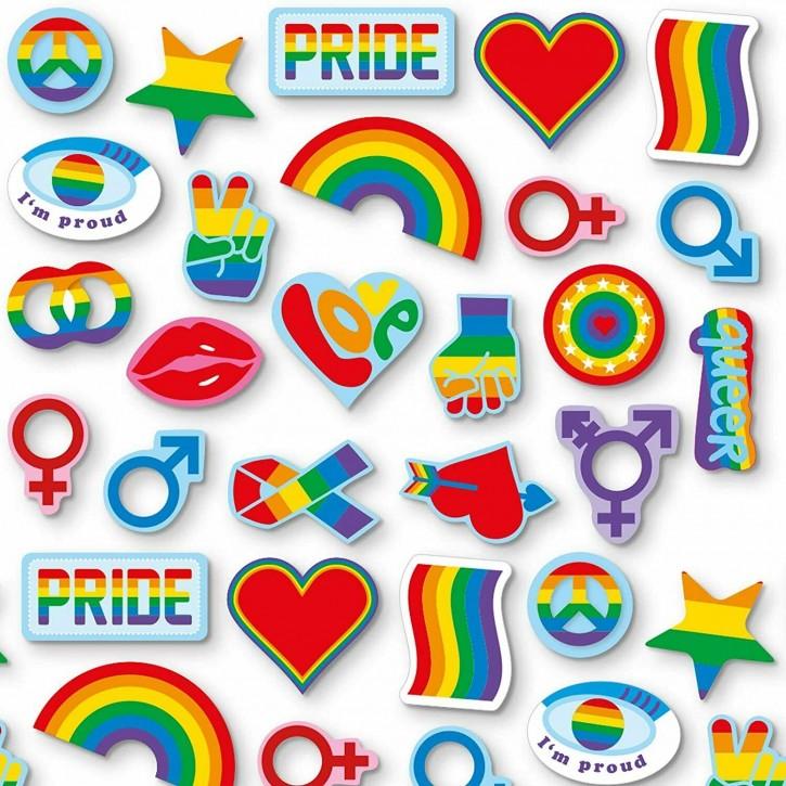 48-teiliges XXL-Konfetti Regenbogen