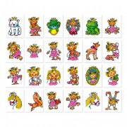 """Tattoo-Set """"Prinzessin Miabella"""" - 24 verschiedene Motive"""